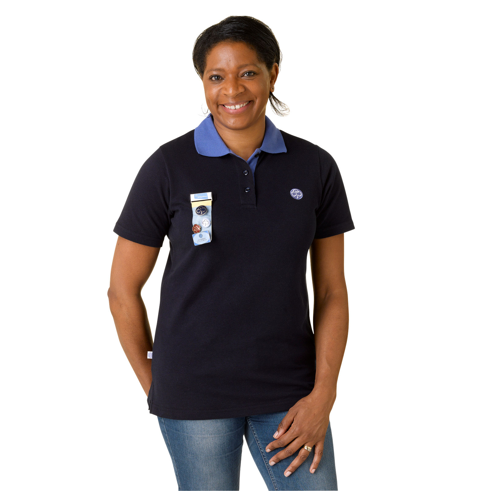 Guides Adult Leader Navy Polo Shirt