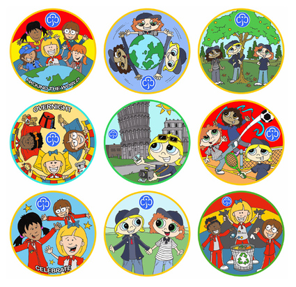 girl guide rainbows badges