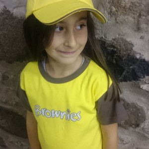 Brownie tshirt and baseball cap