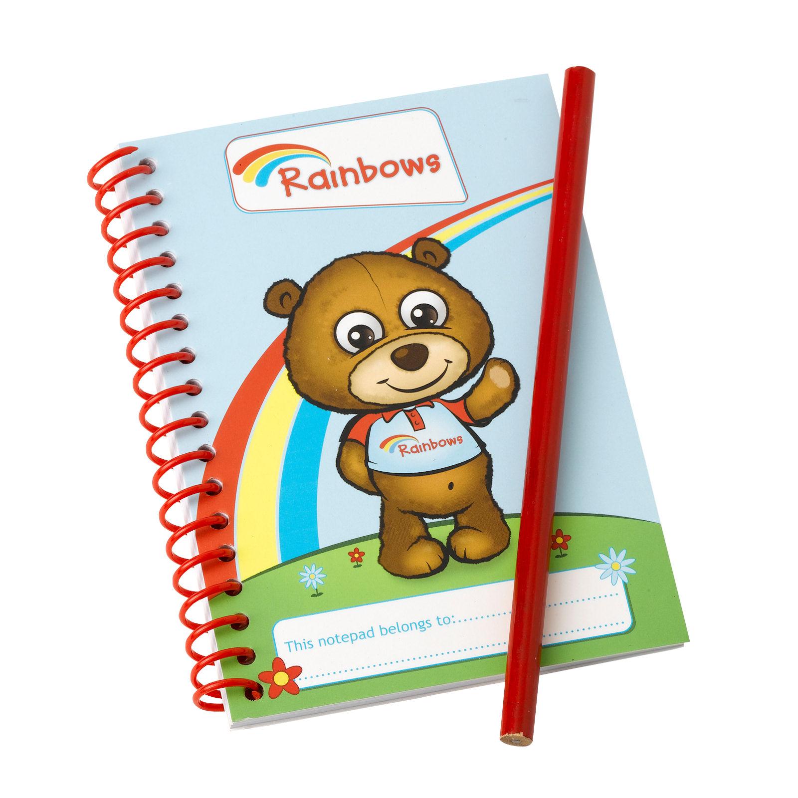 Rainbow Notepad and Pencil Set