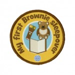 brownie first sleepover badge