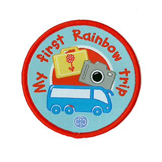 rainbow first trip woven badge
