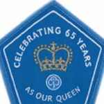 Queens 65 years badge