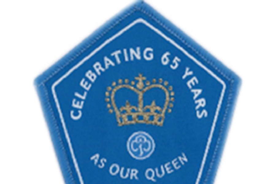 Queens 65th Year Badge