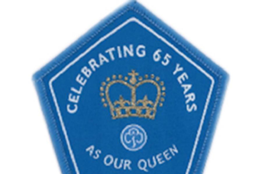 Queens 65 years badge