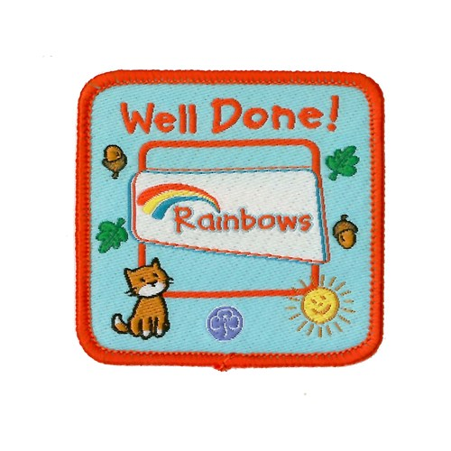 rainbow well done badge